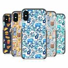 MICKLYN LE FEUVRE PATTERNS 2 BLACK SHOCKPROOF BUMPER CASE FOR APPLE iPHONE PHONE