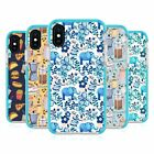 MICKLYN LE FEUVRE PATTERNS 2 BLUE SHOCKPROOF BUMPER CASE FOR APPLE iPHONE PHONES