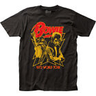 David Bowie 1972 World Tour T Shirt Mens Licensed Rock N Roll Band Tee New Black image