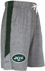 Zubaz NFL Football Mens New York Jets Tonal Gray Space Dye W/Solid Stripe Shorts $24.99 USD on eBay