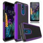 For LG Aristo 4+/Neon Plus/Journey LTE Case Cover With HD Glass Screen Protector