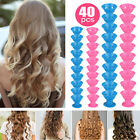 40PCS Silicone Hair Curlers Rollers No Clip Formers Styling Curling DIY Tools