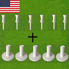 Golf Rubber Tees 5 Pack With 6 Pcs Castle Tee Range Driving Practice Mat Holder