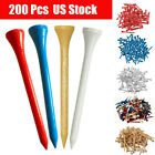 """Golf Wood Tees 200 Count 3-1/4"""" Height 7x Stronger Than Callaway 5 Choices"""