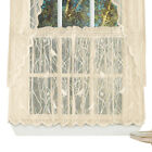 Lace Window CafDecor Curtain Tiers with Songbirds & Branches