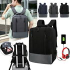 USB Charging Anti-Theft Mens Backpack Laptop Notebook Travel School Rucksack Bag