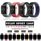 For Apple Watch 38/42/40/44mm Nylon Sport Loop Band Strap iWatch Series 54 3 21