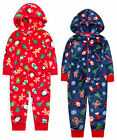 Boys Girls Christmas Jumpsuit Unisex Kids Xmas Pyjama All in One Ages 2-13 Years