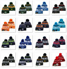 Embroidered All Team Logo Pom Pom Skull Beanie Cap Winter Warm Football Hat $12.74 USD on eBay