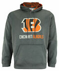 Zubaz NFL Cincinnati Bengals Men's Heather Grey Performance Fleece Hoodie $49.95 USD on eBay