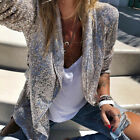 Womens Glitter Sequin Blazer Suit Open Front Thin Jacket Ladies Party Outwear