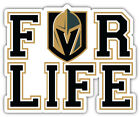 "Vegas Golden Knights For Life NHL Sport Car Bumper Sticker Decal ""SIZES'' $4.25 USD on eBay"