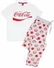 Coca-Cola Logo Men's Pyjama White Grey Lounge Set £16.99  on eBay