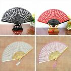 Lady Floral Lace Folding Hand Held Fan Spanish Chinese Dance Show Burlesque Chic