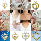 Lot Angel Pendant Heart Necklace 14k Gold Silver Bib Chain Girl Women Jewelry