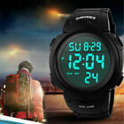 Screen Face Digital LED Military Waterproof Large Men's Watches Sports Watch US image