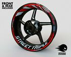 - RIM STICKER KIT - Fits TRIUMPH STREET TRIPLE RS R S Wheel Stripes Decals Tape $88.24 CAD on eBay