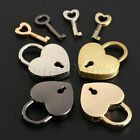 4 Colors Love Heart Shape Lock Padlock Locker With Key Travel Luggage Bags