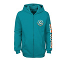 Outerstuff NFL Youth Girls Miami Dolphins Brilliant Full Zip Fleece Hoodie $29.95 USD on eBay