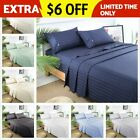 King Size 1800 Thread Count 100% Egyptian Comfort Sateen Dobby Stripe Sheet Set image
