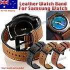 Au Leather Watch Band Strap For Samsung Galaxy Watch 46mm S3 Frontier Sport