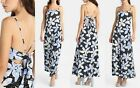 A|X Armani Exchange Women's Floral Dot Tropical Tie-Back Maxi Dress, Blue, 6, 10