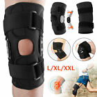 Knee Brace Hinged Compression Sleeve Joint Support Open Patella Stabilizer Wrap