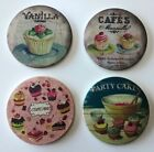shabby chic ceramic coasters choos-5 variations.set of 4 in each pack.10cm diam