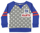 Outerstuff NFL Little Girls New York Giants Logo Polka Dot Long Sleeve Crew $24.95 USD on eBay
