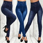 Women Denim Leggings Jeans Jeggings Elsastic Skinny Full Length Pants. Plus Size