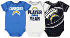 Outerstuff NFL Infant Los Angeles Chargers Number #1 Fan 3 Piece Creeper Set $12.99 USD on eBay