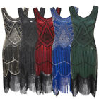 Women Girl 1920s Cocktail Sequin Flapper Dress Beaded Tassel Gatsby Evening Gown