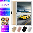 "10"" Tablet PC Android 9.0 Pad Octa Core 4 128GB HD Dual Camera Dual SIM WIFI GPS"