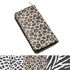 Premium Vegan Leather Animal Print Continental Zip Around Wallet - Diff Colors image