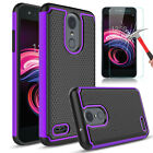 For LG K8 2018 LM-X210CM Hybrid Armor TPU Phone Case Cover / Screen Protector
