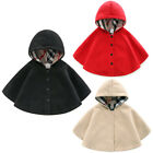 Baby Kid Toddler Boys Girls Hooded Cape Cloak Poncho Coat Outfit Hoodies Clothes