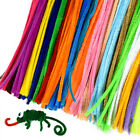 5mm 100Pc Plush Strips Toy Pipe Cleaners Children Educational Crafts Solid Color