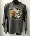 Harley Davidson Mens Old Scene Long Sleeve T-Shirt Gray  R003350 $38.0 USD on eBay