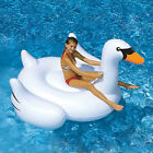 75'' Giant Inflatable Ride-On Pool Flamingo Swan Rideable Raft Float Swimming US