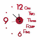 FixedPricelarge wall clock big watch decal 3d stickers roman numerals diy wall modern home
