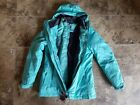 Nwt Womens Zeroxposur Black Wave Green Mint Parka Coat 3 in 1 Puffer Small S
