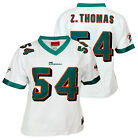 Reebok Womens NFL Football Miami Dolphins Zack Thomas #54 Player Jersey, White $19.99 USD on eBay