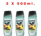 "AVON X 3 Senses ""X-Treme"" Shower Gels For Him, 3 x 500 ml. New, Gift Set"