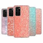 OFFICIAL PLDESIGN SPARKLY CORAL SOFT GEL CASE FOR HUAWEI PHONES