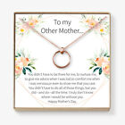 Stepmom Necklace - Heartfelt Card & Jewelry Gift for Birthday, Holidays & More