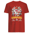 KC Kansas City Chiefs Super Bowl LIV 2020 Champions Champs RED And BLACK T-shirt $10.99 USD on eBay