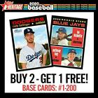 2020 TOPPS HERITAGE BUY 2 GET 1 FREE COMPLETE YOUR SET U PICK YOUR CARDS #1-200Baseball Cards - 213