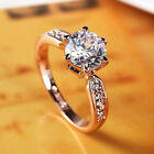 Women Crystal Rings 925 Silver Princess Boutique Jewelry Wedding Engagement Ring