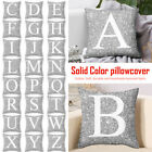 Letter Cushion Rose Gold Glitter Case Cover Home Sofa Decor 45cm US Pillow Throw
