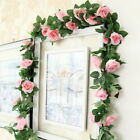 7 Feet Artificial Flower Silk Vine Garland Leaf Rose US Decor Garden Wedding Ivy